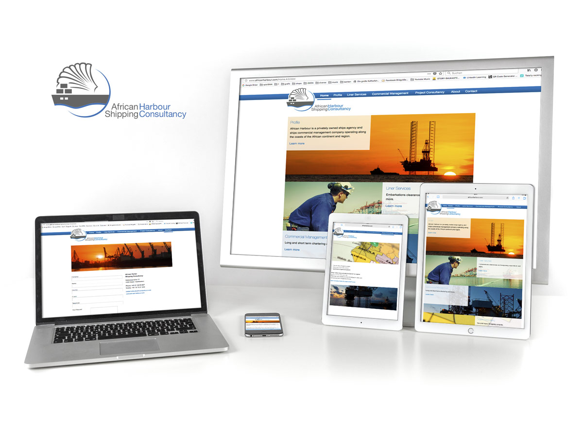 Webdesign African Harbour Shipping Consultancy